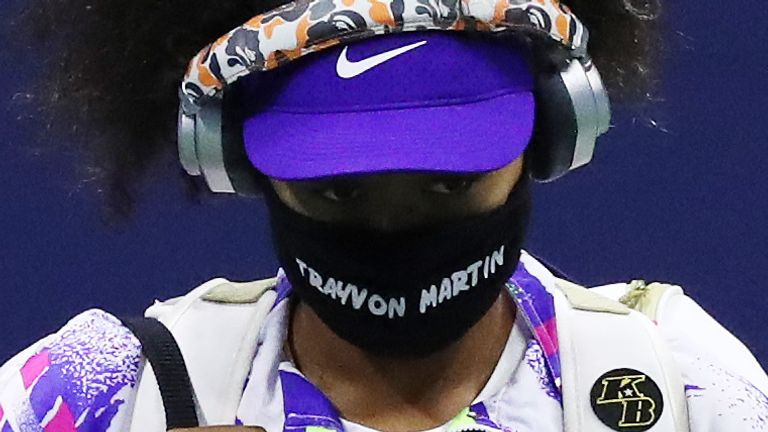 During the US Open Osaka wore face masks carrying the names of black victims of alleged police or racist violence in the United States