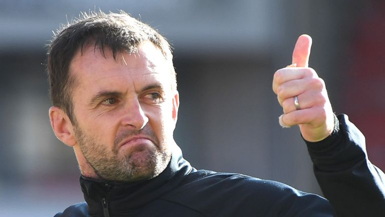 Nathan Jones' Luton earned their first win of the season through James Collins