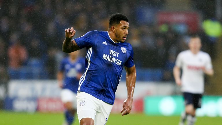 Nathaniel Mendez-Laing in action for Cardiff City