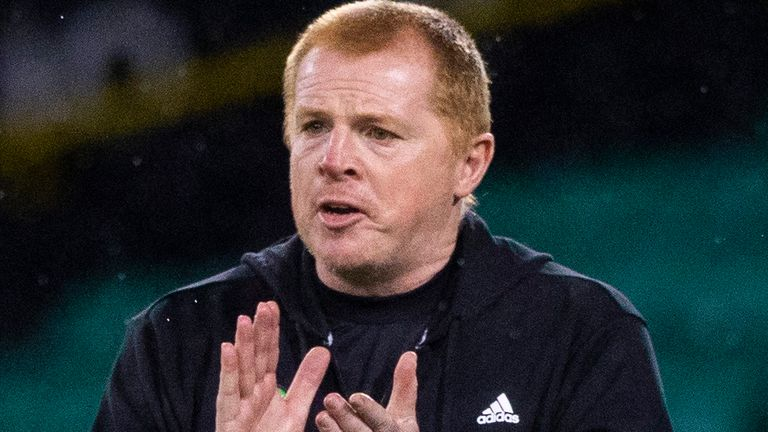 GLASGOW, SCOTLAND - AUGUST 26: Celtic Manager Neil Lennon during the Champions League Second Round qualifying match between Celtic and Ferencvaros at Celtic Park on August 26, 2020, in Glasgow, Scotland. (Photo by Craig Williamson / SNS Group)