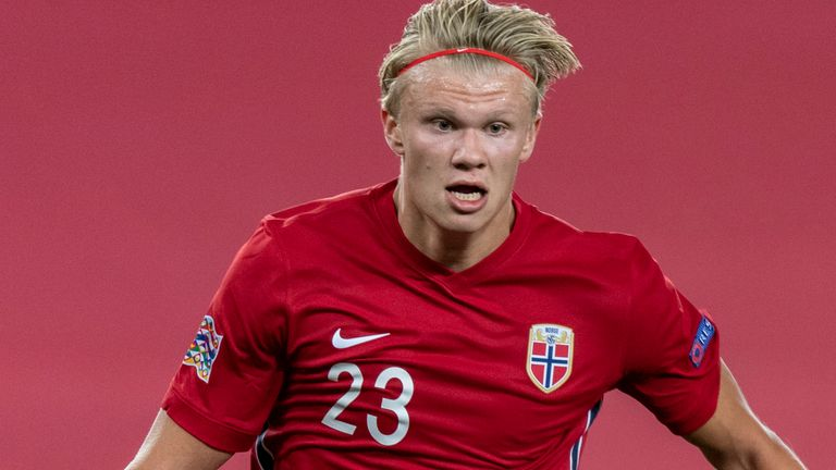 Erling Braut Haaland scored his first goal for Norway in the 2-1 defeat to Austria on Friday night