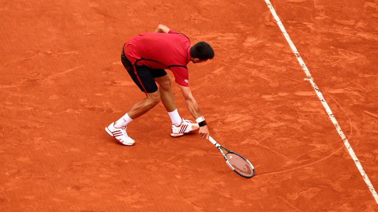 Djokovic drew a love-heart on the clay after winning the French Open in 2016. Will he be shown the same love when the tournament starts at the end of September?