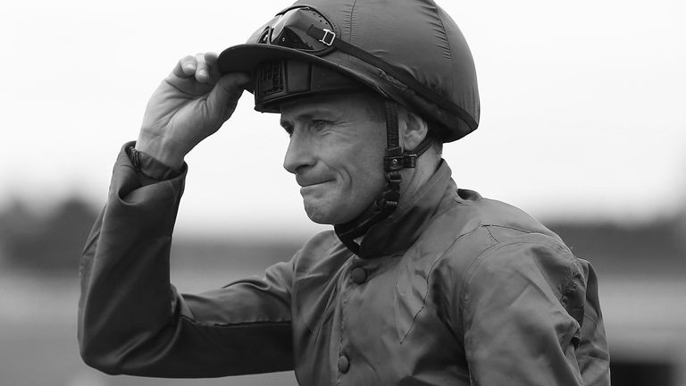 KILDARE, IRELAND - JUNE 25:  Pat Smullen after riding Harzand to win The Dubai Duty Free Irish Derby at Curragh racecourse on June 25, 2016 in Kildare, Ireland. (Photo by Alan Crowhurst/Getty Images)