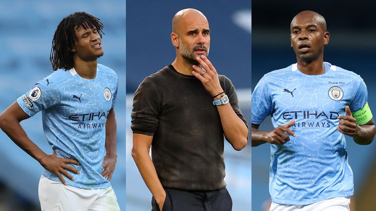 Pep Guardiola Man City Fernandinho Nathan Ake