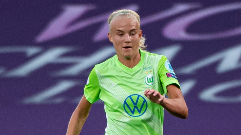 Pernille Harder captained Wolfsburg in their Champions League final defeat to Lyon, prior to sealing her move to Chelsea