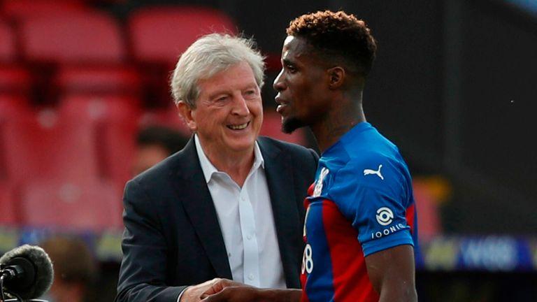 Roy Hodgson is hopeful of Wilfried Zaha remaining a Crystal Palace player