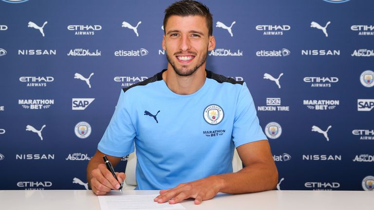 Ruben Dias has signed a six-year contract at Manchester City