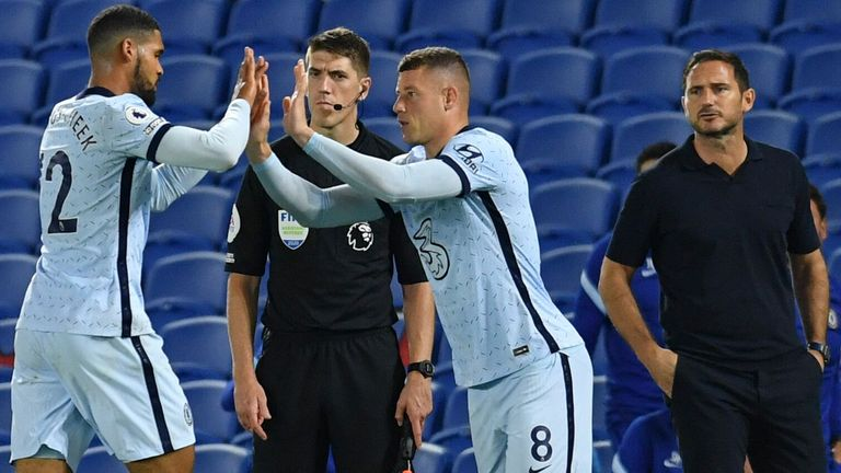 Ruben Loftus-Cheek was replaced by Ross Barkley during Chelsea's win at Brighton