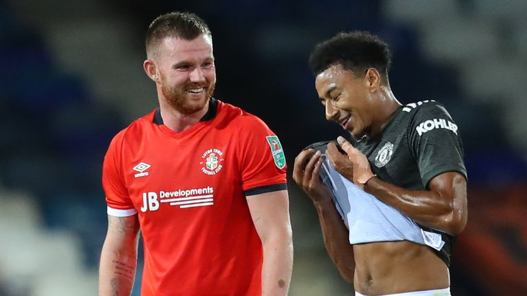 United academy graduates Jesse Lingard and Ryan Tunnicliffe at full-time