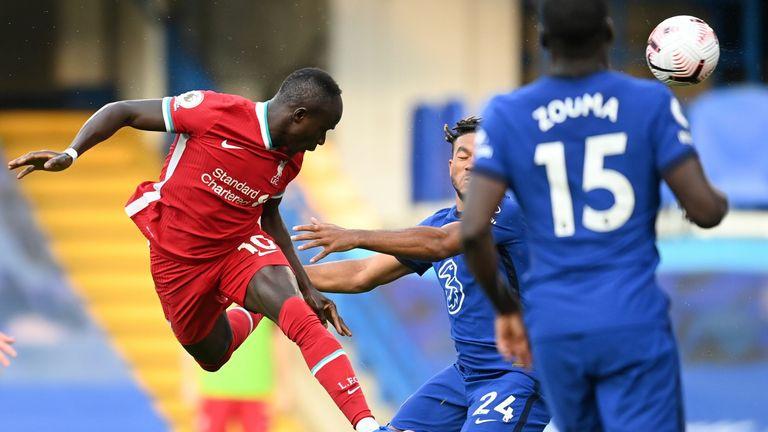 Sadio Mane heads Liverpool into a 1-0 lead