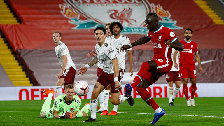 Sadio Mane equalises for Liverpool