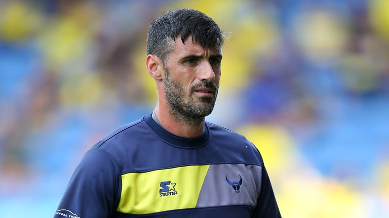 Oxford United goalkeeper Scott Shearer