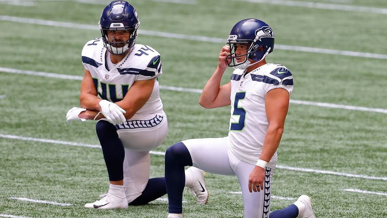 Seattle Seahawks players were among those to take a knee during the Sunday afternoon matches in the NFL