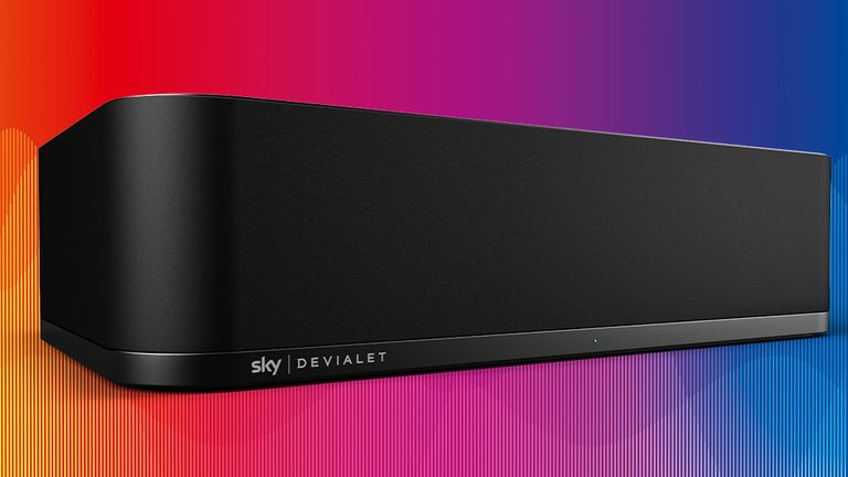 Enjoy truly immersive sound with Sky Soundbox and get the full cinema experience from a single speaker