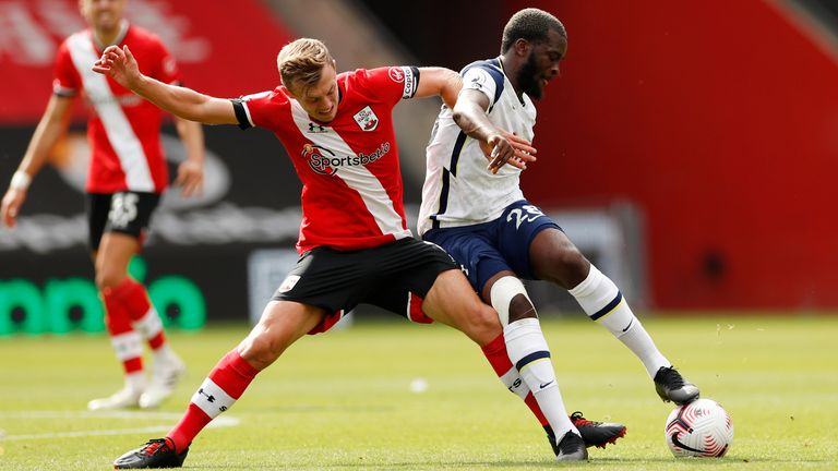 Tanguy Ndombele in action against Southampton
