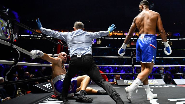 Yoka needed less than a round to win his eighth fight