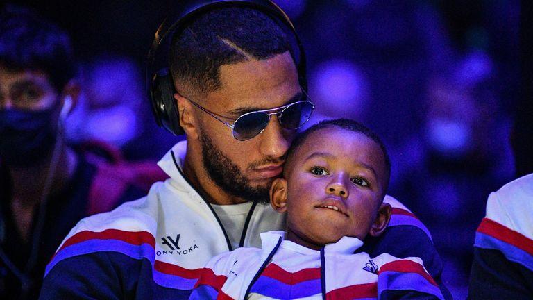 Tony Yoka with his son, Ali