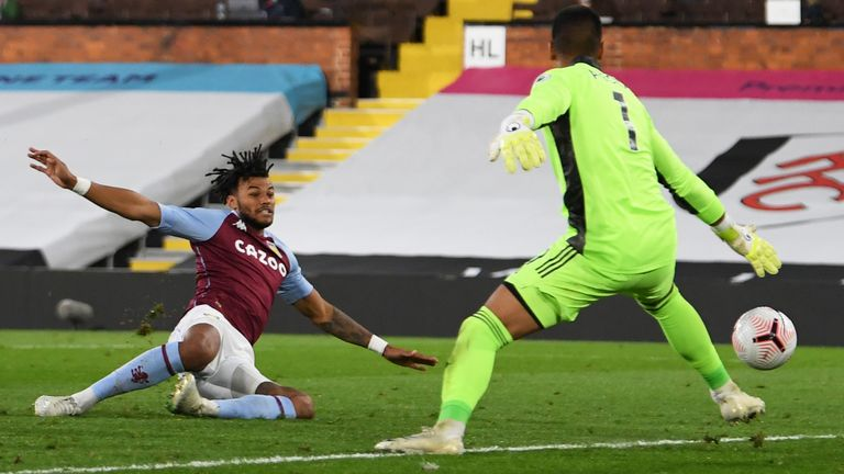 Tyrone Mings reacts quickest to put Villa 3-0 up