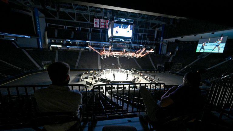 Empty MMA Arena