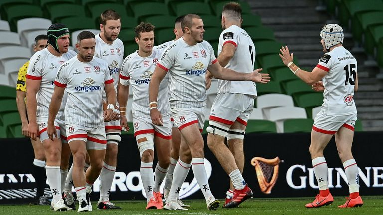 James Hume scored the first points with a try for Ulster, but they would not score again