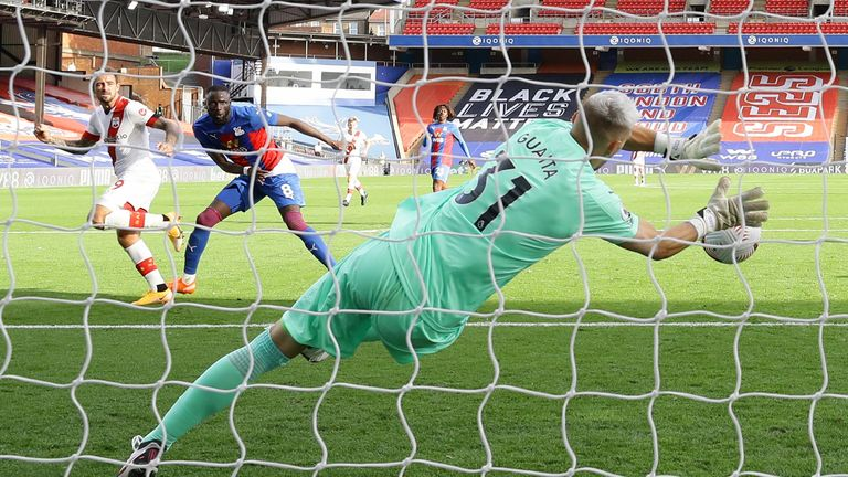 Danny Ings is denied late on by Vicente Guaita at Selhurst Park