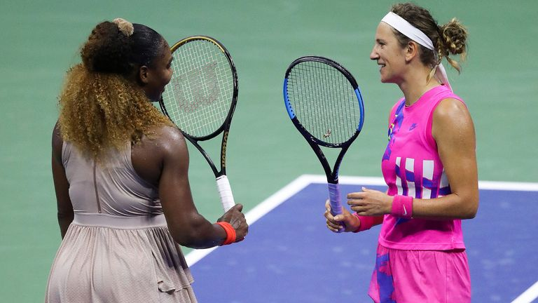 Azarenka won a vintage battle against Williams to reach her first Grand Slam final for seven years