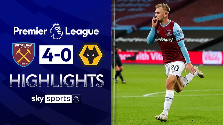 FREE TO WATCH: Highlights from West Ham's win over Wolves in the Premier League