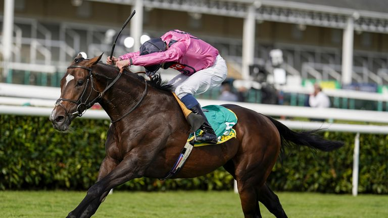 William Buick riding Spanish Mission win The bet365 Doncaster Cup