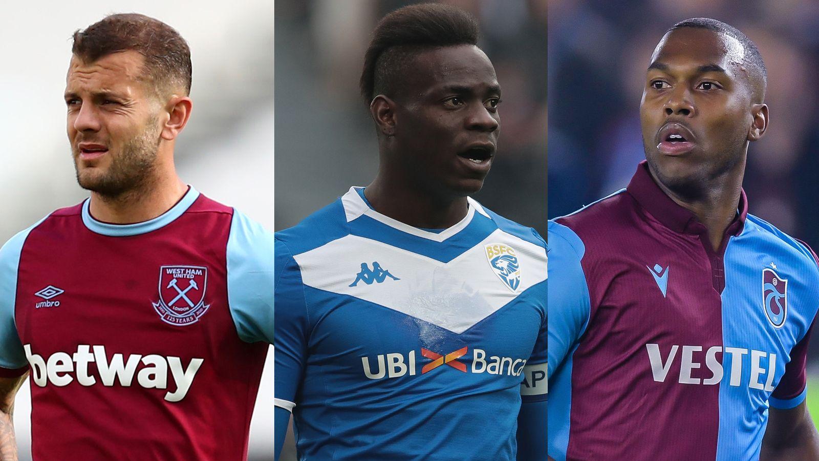 Jack Wilshere, Mario Balotelli, Daniel Sturridge - free agent XI