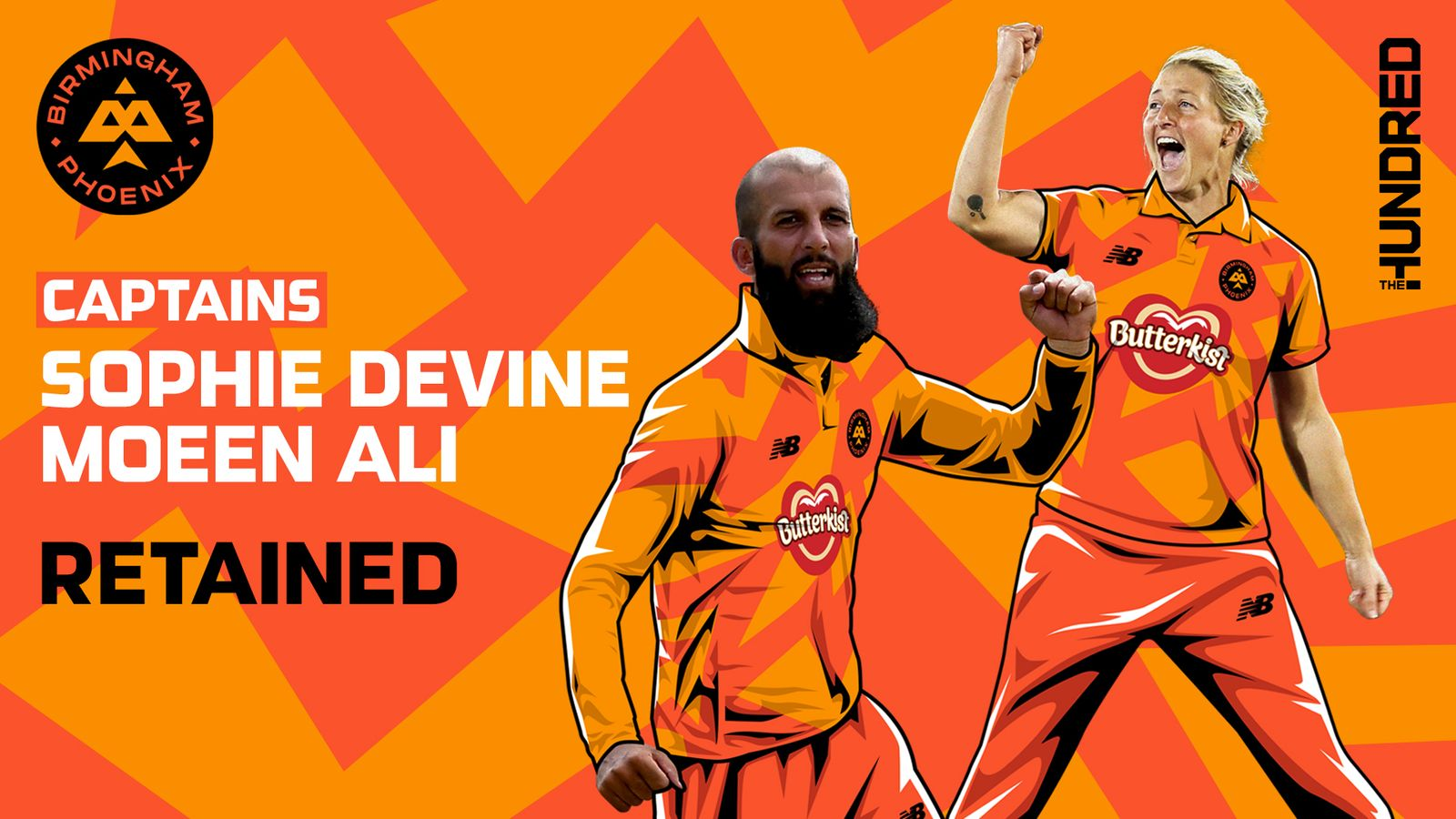 Moeen Ali and Sophie Devine retained as Birmingham Phoenix captains for The Hundred