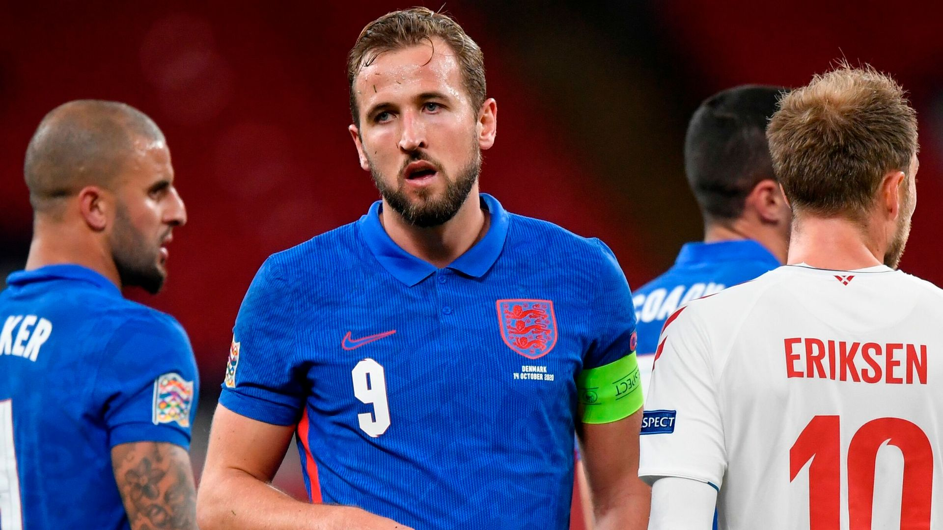 Maguire, James off as Danes bring England down to earth