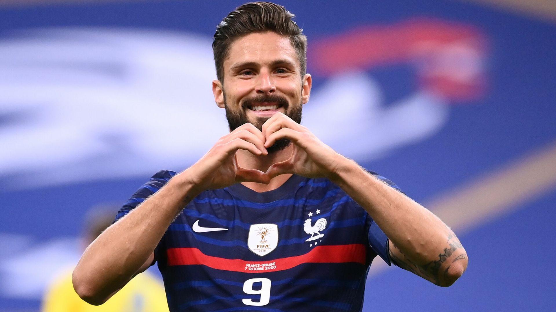 Giroud stars as France hit seven, Germany held in thriller
