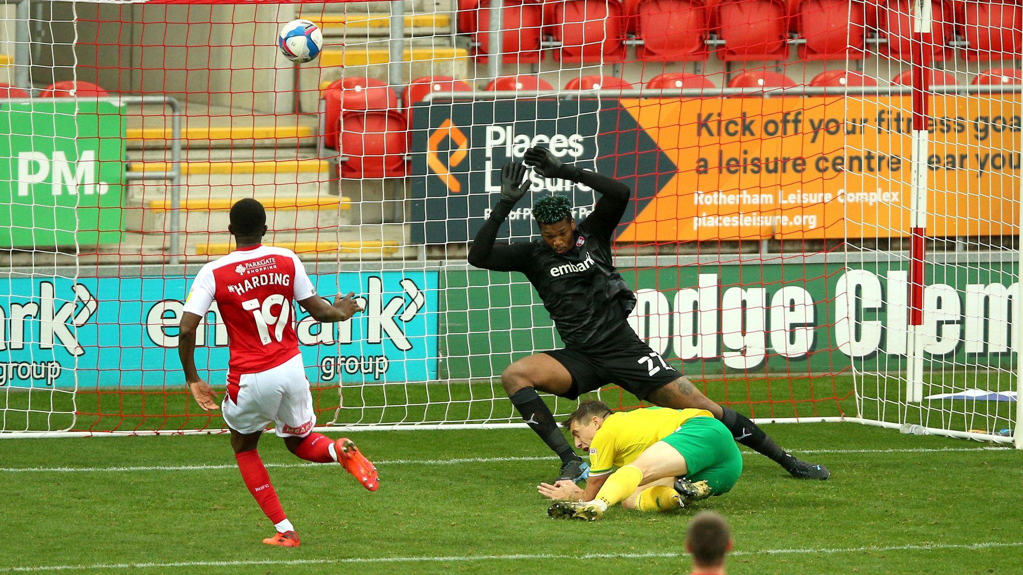 Rotherham 1-2 Norwich: Jordan Hugill hits stoppage-time penalty winner