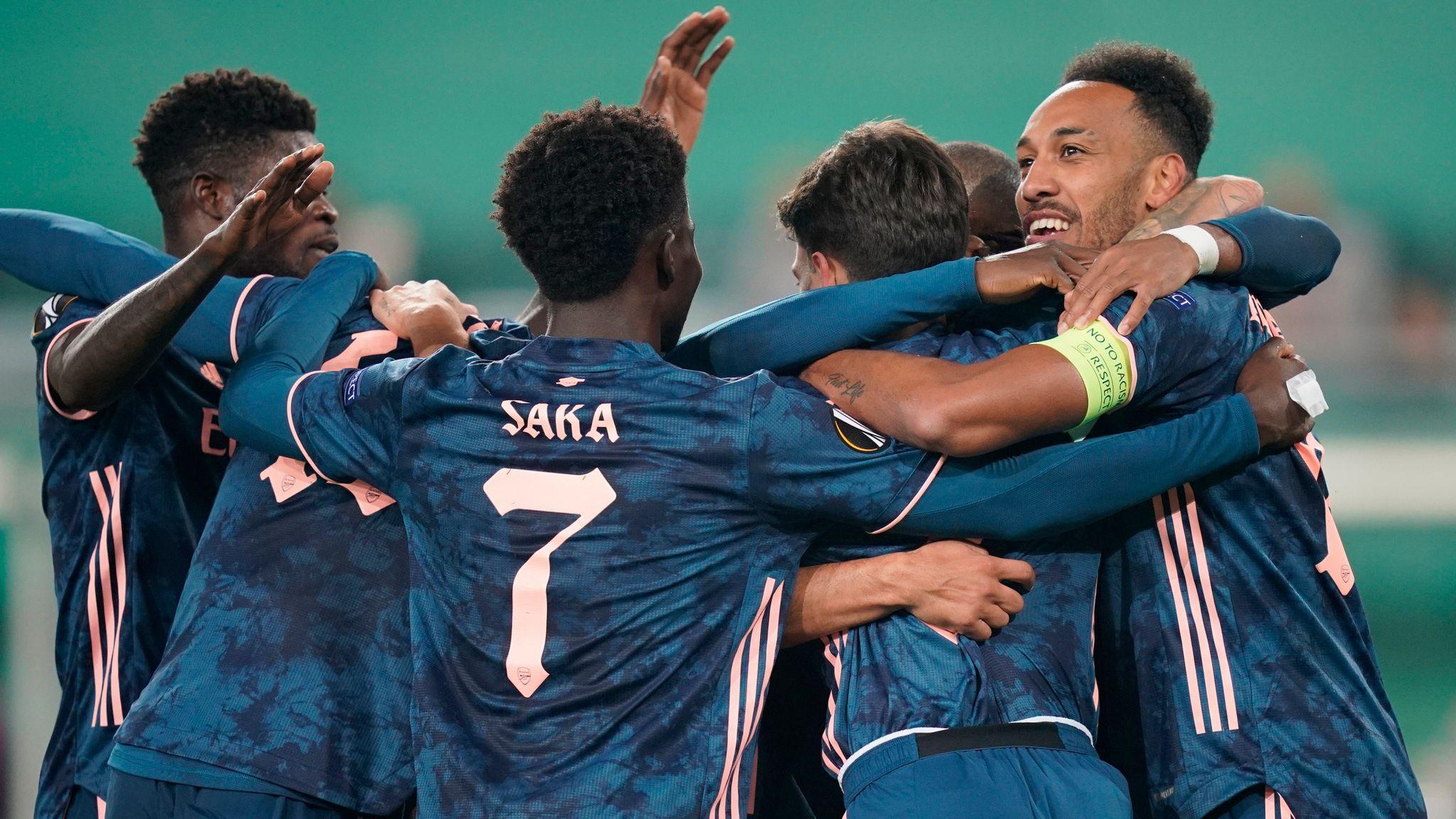 R Wien 1 2 Arsenal Match Report Highlights