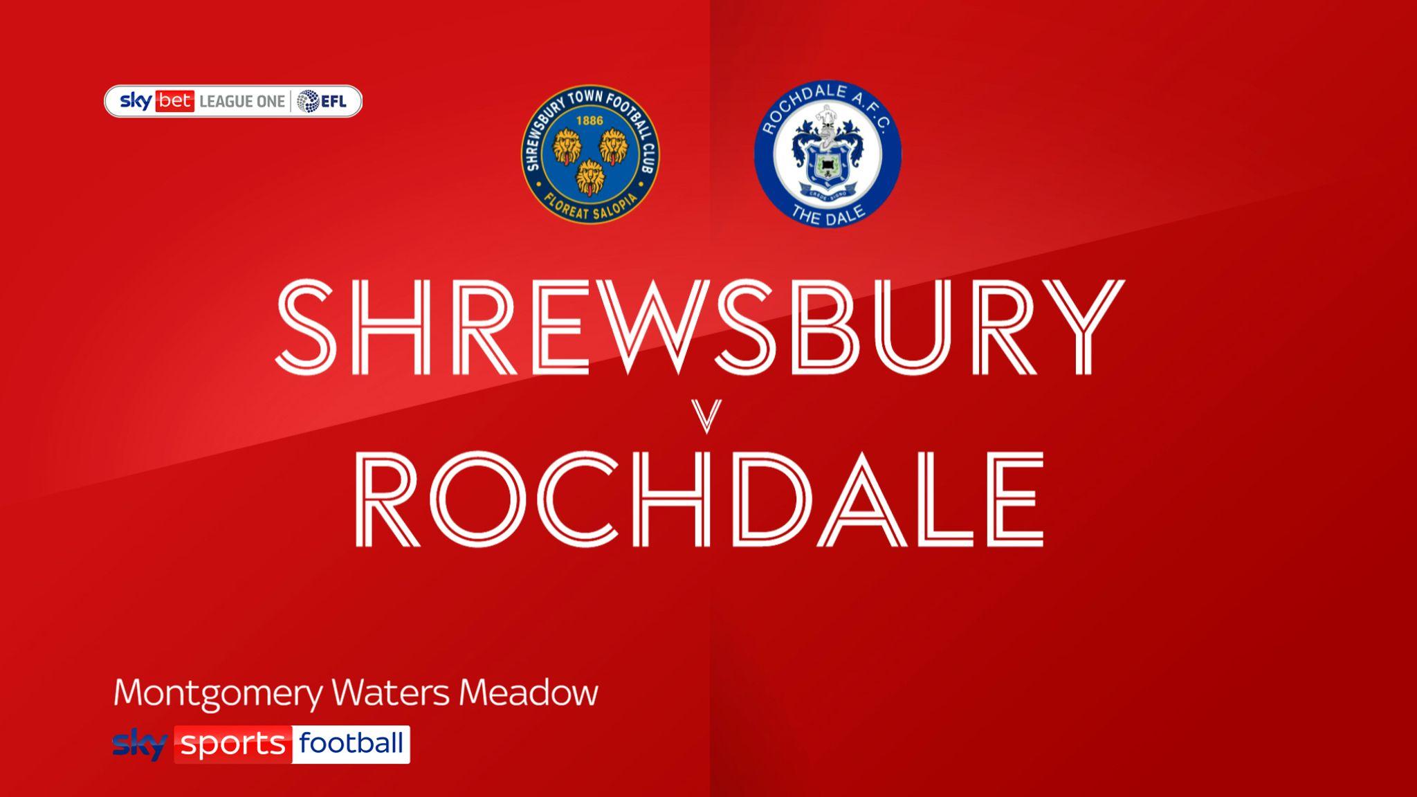 Shrewsbury 1-2 Rochdale: Alex Newby scores winner for Dale