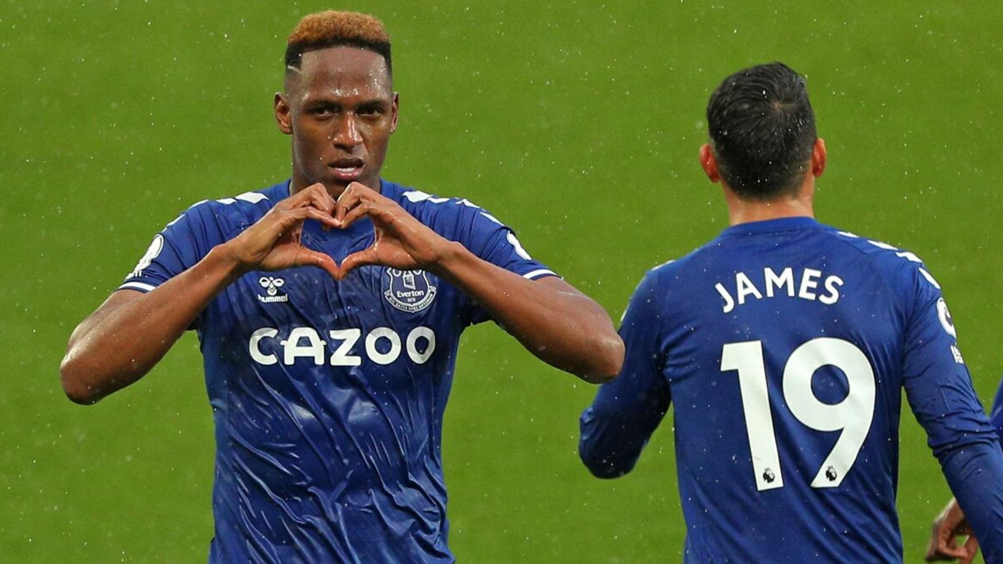 Jones Knows Back Everton Defender Yerry Mina To Head Home At 18 1 Against Southampton Football News Sky Sports
