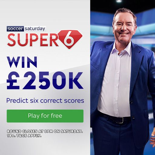 Win £250,000 for free with Super 6!