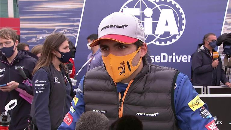 McLaren's Carlos Sainz says he enjoyed the few laps he led the Portuguese Grand Prix, but felt that his sixth place finish was the best he could have done.