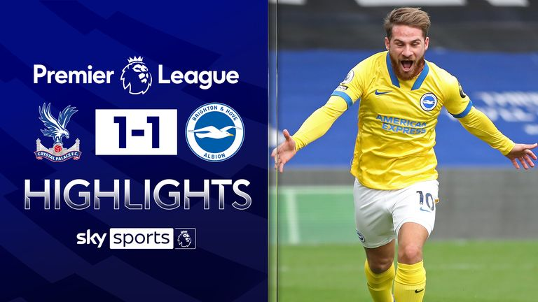 FREE TO WATCH: Highlights from Crystal Palace's draw with Brighton in the Premier League