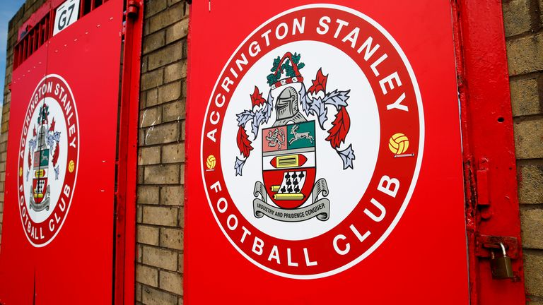 LONDON, ENGLAND - MARCH 19: A General view of the Wham Stadium, home to Accrington Stanley FC photographed on March 19, 2020 in Accrington, England. (Photo by Clive Brunskill/Getty Images)