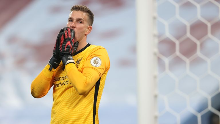 A dejected Adrian after conceding a 6th goal at Villa Park