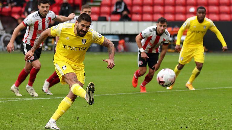 Aleksandar Mitrovic misses a penalty vs Sheffield United