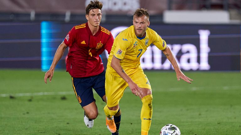Andriy Yarmolenko  is in line to feature for Ukraine against Germany