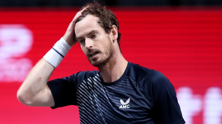 Andy Murray was beaten in straight sets in Cologne
