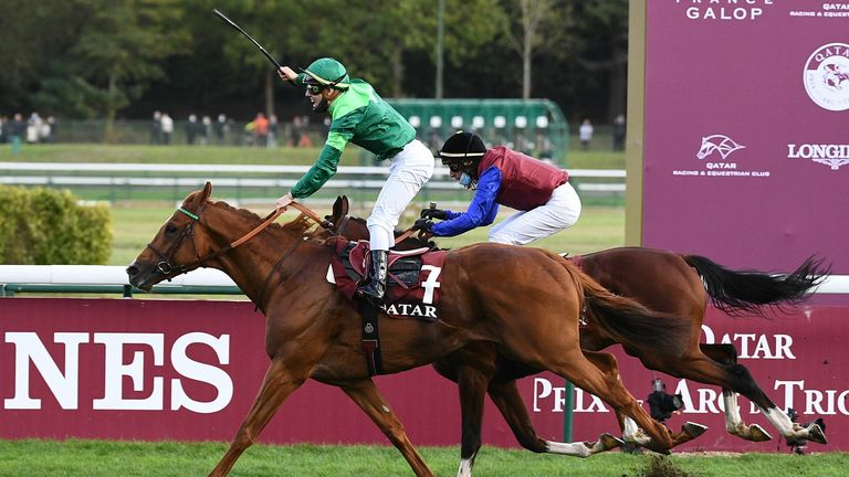 Sottsass wins the Prix de l'Arc de Triomphe ahead of In Swoop