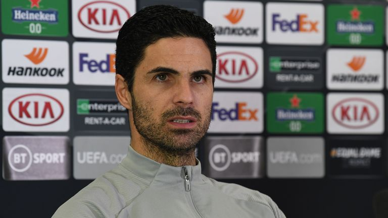 Arsenal manager Mikel Arteta in his pre-match press conference