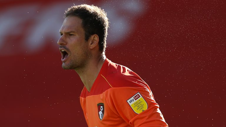 Asmir Begovic in action for Bournemouth