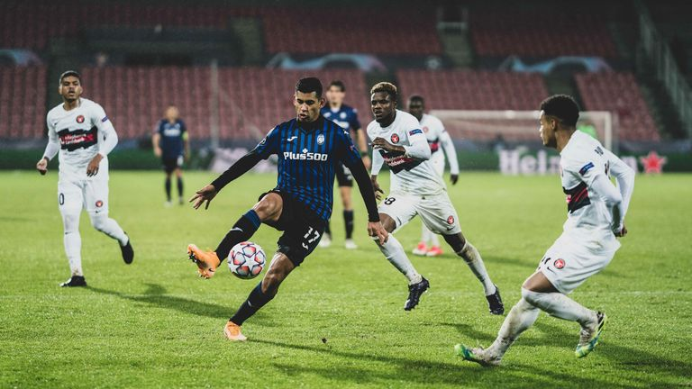Midtjylland were thrashed 4-0 at home to Atalanta in their first ever Champions League group stage game