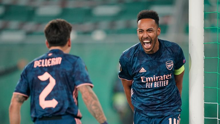 Pierre-Emerick Aubameyang's winner gave Arsenal victory in Vienna