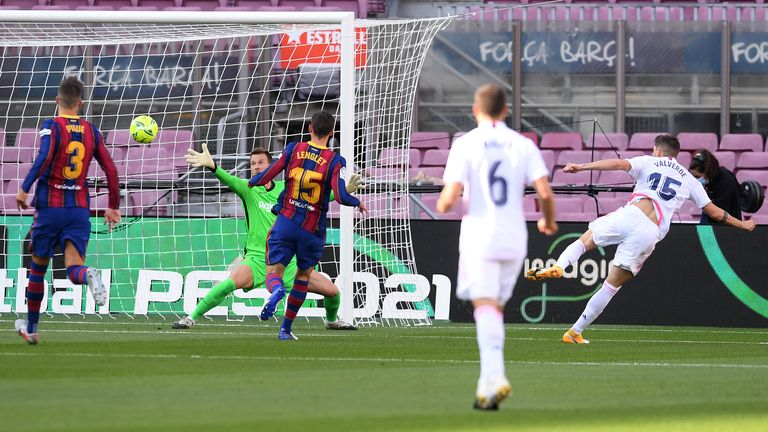 Fede Valverde opened the scoring after just five minutes at the Nou Camp